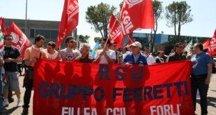 Gruppo Ferretti: 8 ore di sciopero per il giorno Lunedì 9 Ottobre, in tutti gli stabilimenti del gruppo